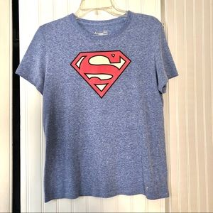 Superman Under Armour Semi-fitted Tee - Large